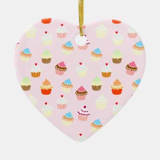 Ornamento De Cerâmica Confetes do cupcake