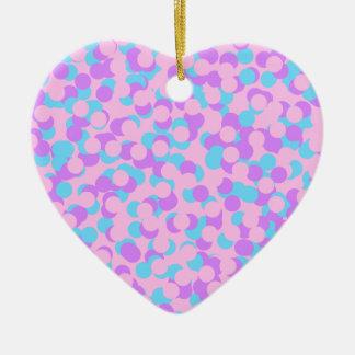 Ornamento De Cerâmica Confetes do querido