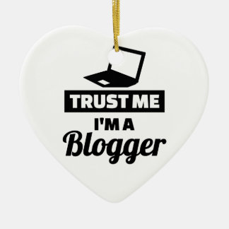 Ornamento De Cerâmica Confie que eu mim é um blogger