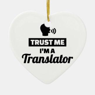Ornamento De Cerâmica Confie que eu mim é um tradutor