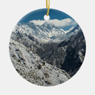 Ornamento De Cerâmica Congelado de grande Monte Everest