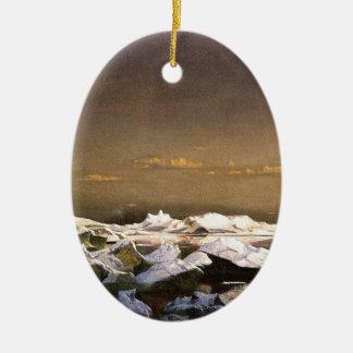 Ornamento De Cerâmica Congele em calotes polares de flutuação do mar |