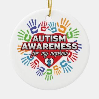 Ornamento De Cerâmica Consciência do autismo para meu sobrinho