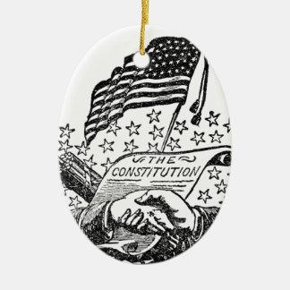 Ornamento De Cerâmica Constituição de Estados Unidos