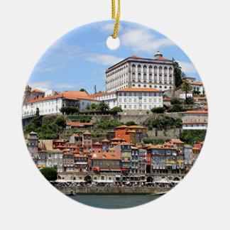 Ornamento De Cerâmica Construções históricas e rio, Porto, Portugal