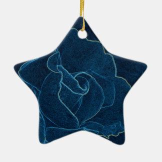 Ornamento De Cerâmica contorno do rosa do azul