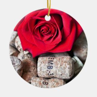 Ornamento De Cerâmica CONVERSAS ROSA with cork