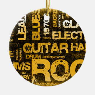 Ornamento De Cerâmica Convite de festas da música rock como a arte do