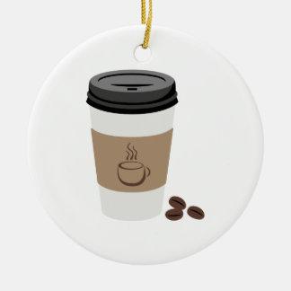 Ornamento De Cerâmica Copo de café
