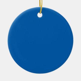 Ornamento De Cerâmica Cor azul vivamente impressionante