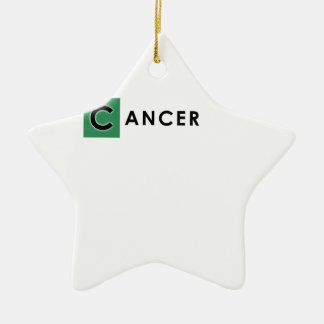 ORNAMENTO DE CERÂMICA COR DO CANCER