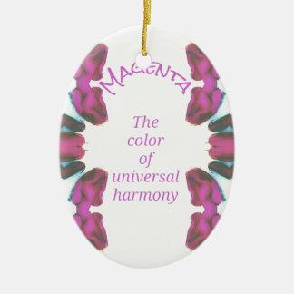 Ornamento De Cerâmica 'Cor magenta chique da harmonia universal