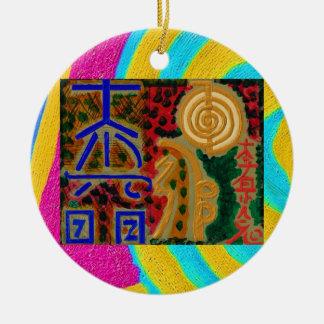 Ornamento De Cerâmica Cor pura - símbolos 2 de Reiki