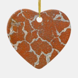 Ornamento De Cerâmica Cor velha de russet no concreto