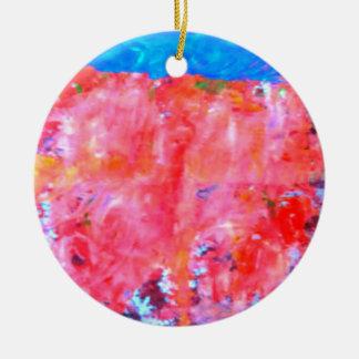 Ornamento De Cerâmica cor vermelha