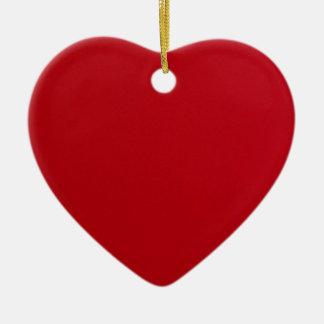 Ornamento De Cerâmica Cor vermelha lisa