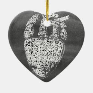 Ornamento De Cerâmica Coração