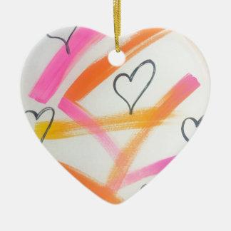 Ornamento De Cerâmica Coração alegre