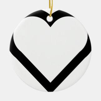 Ornamento De Cerâmica Coração bonito