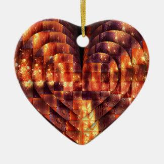 Ornamento De Cerâmica Coração bonito a encontrar