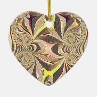 Ornamento De Cerâmica coração colorido