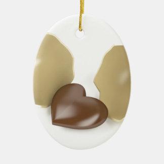 Ornamento De Cerâmica Coração do chocolate