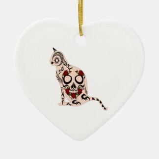 Ornamento De Cerâmica Coração do crânio