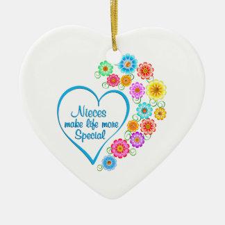 Ornamento De Cerâmica Coração do Special das sobrinha