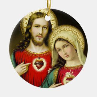 Ornamento De Cerâmica Coração imaculado sagrado Mary de Jesus