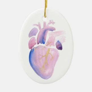 Ornamento De Cerâmica Coração muito violeta