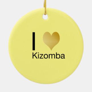 Ornamento De Cerâmica Coração Playfully elegante Kizomba de I
