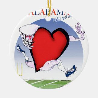 Ornamento De Cerâmica coração principal de Alabama, fernandes tony