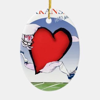 Ornamento De Cerâmica coração principal de arkansas, fernandes tony