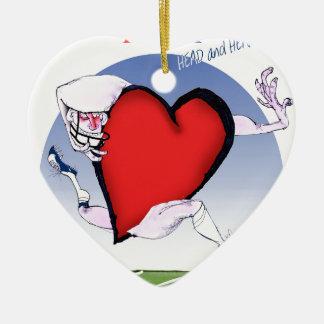 Ornamento De Cerâmica coração principal de iowa, fernandes tony