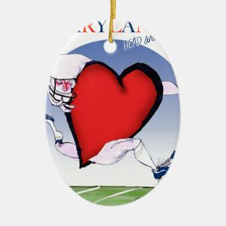 Ornamento De Cerâmica coração principal de maryland, fernandes tony