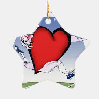 Ornamento De Cerâmica coração principal de Massachusetts, fernandes tony