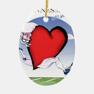 Ornamento De Cerâmica coração principal de tennessee, fernandes tony