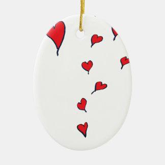 Ornamento De Cerâmica corações 1 por fernandes tony