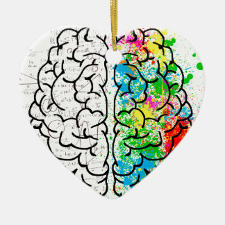 Ornamento De Cerâmica corações da ideia da psicologia da mente do