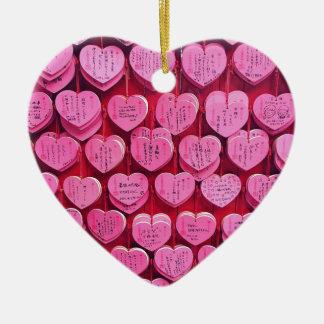 Ornamento De Cerâmica Corações & desejos