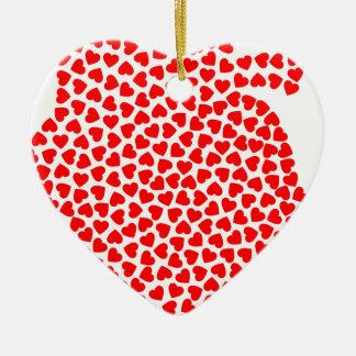 Ornamento De Cerâmica Corações do coração