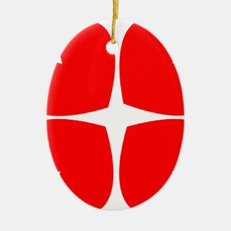 Ornamento De Cerâmica Corações vermelhos