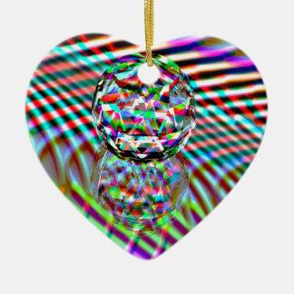 Ornamento De Cerâmica Cores altas de cristal