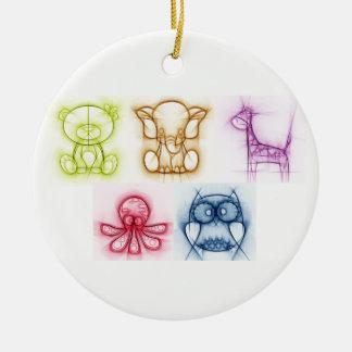 Ornamento De Cerâmica Cores animais