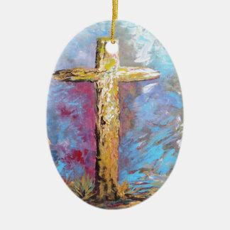 Ornamento De Cerâmica Cores da cruz