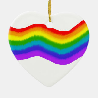 Ornamento De Cerâmica Cores do arco-íris do Watercolour