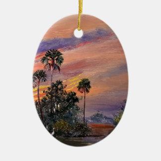 Ornamento De Cerâmica Cores do por do sol de Florida