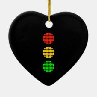 Ornamento De Cerâmica Cores do sinal de trânsito do ponto