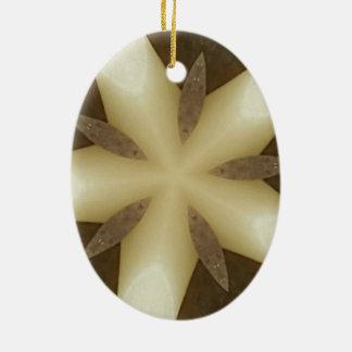Ornamento De Cerâmica Cores rústicas brancas do design de Brown da