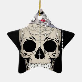 Ornamento De Cerâmica Coroa do horror do Dia das Bruxas do quadro do